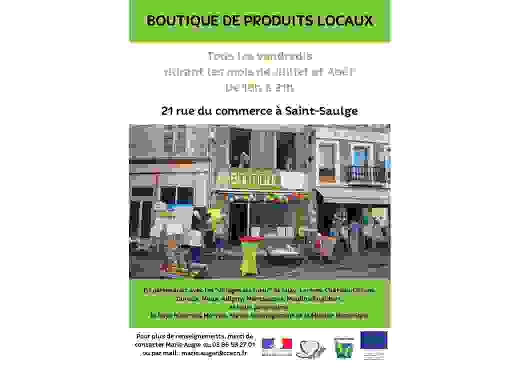 Affiche sur l'ouverture de la boutique Village du Futur