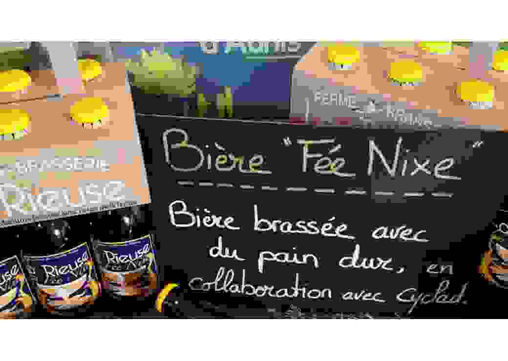 Bière Fée Nix fabriquée avec du pain dur en économie circulaire