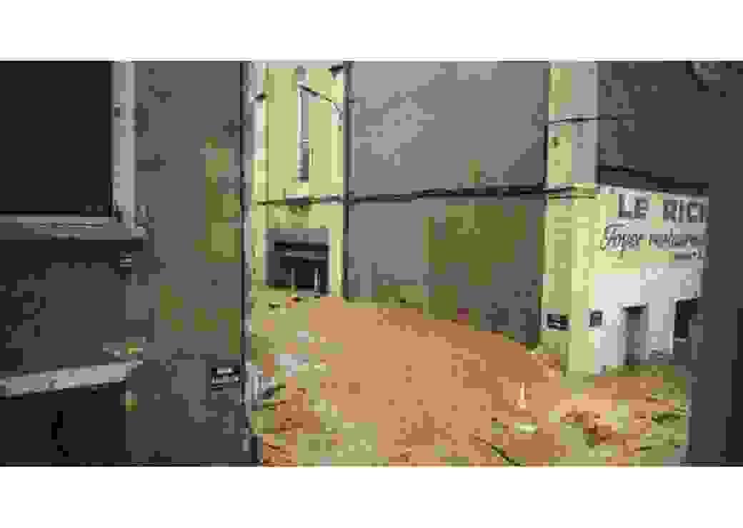 03 10 1988 : Enorme vague surgissant dans la rue Catina de Nïmes