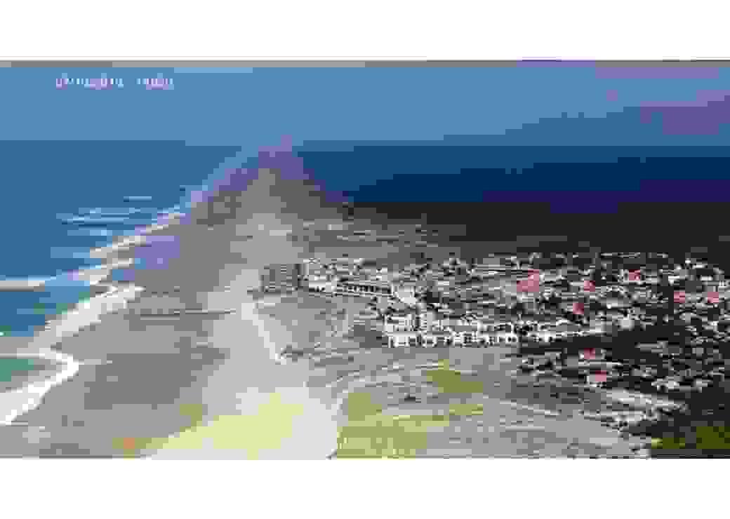 Vue aérienne de la bande côtière de Lacanau
