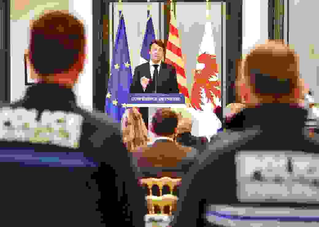 Conférence de presse, C. Estrosi