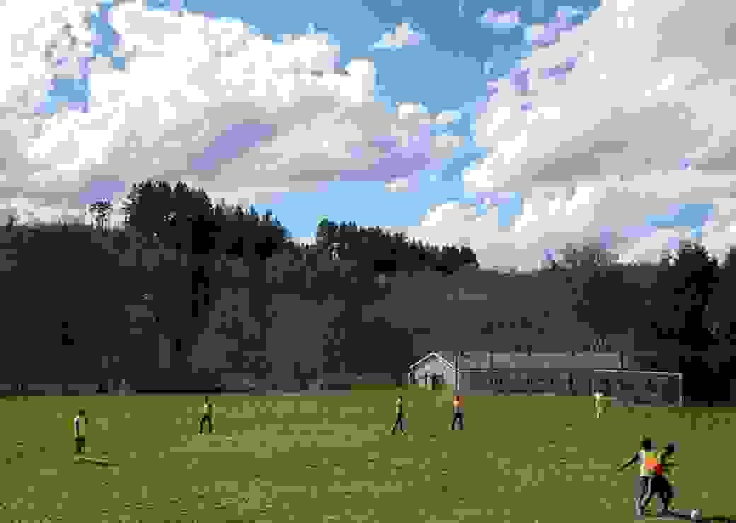 terrain de foot campagne