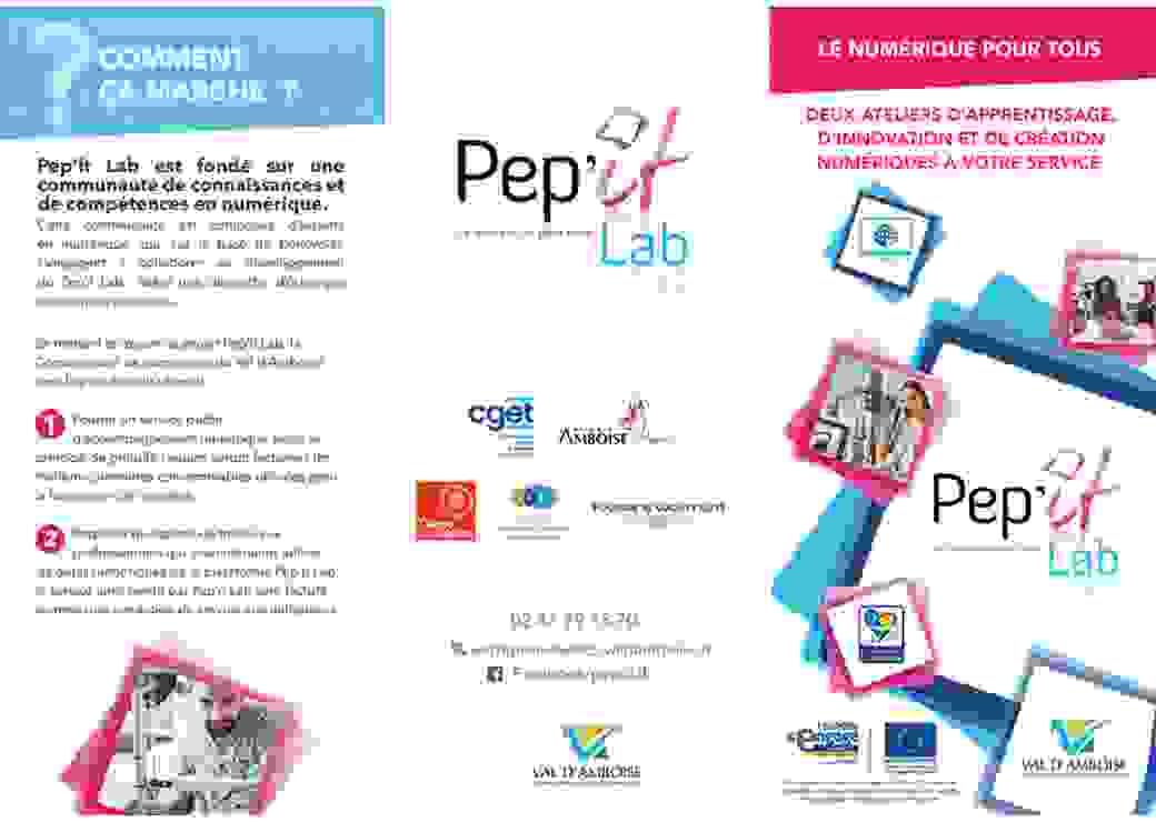 LFlyer du Pep'it Lab qui contribue à la transition numérique