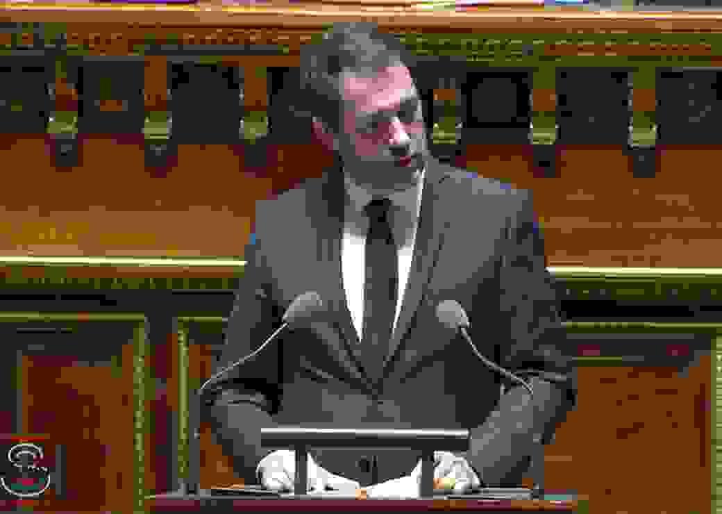 christophe Castaner au Sénat le 12 mars