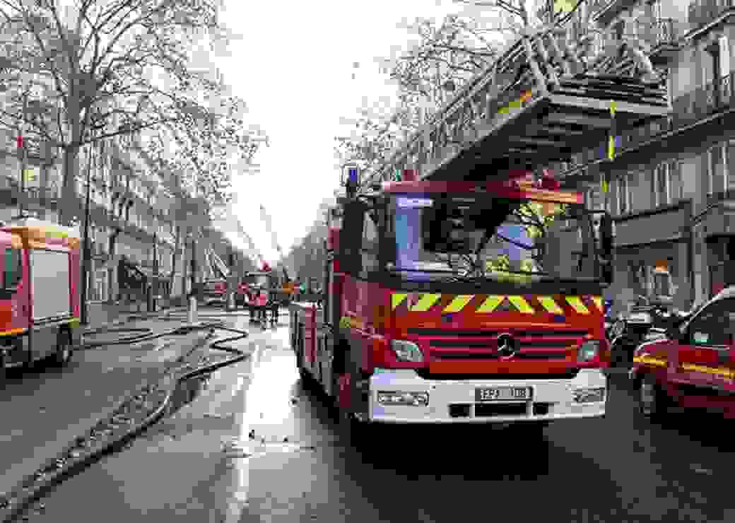 Camion de pompiers, intervention pompiers