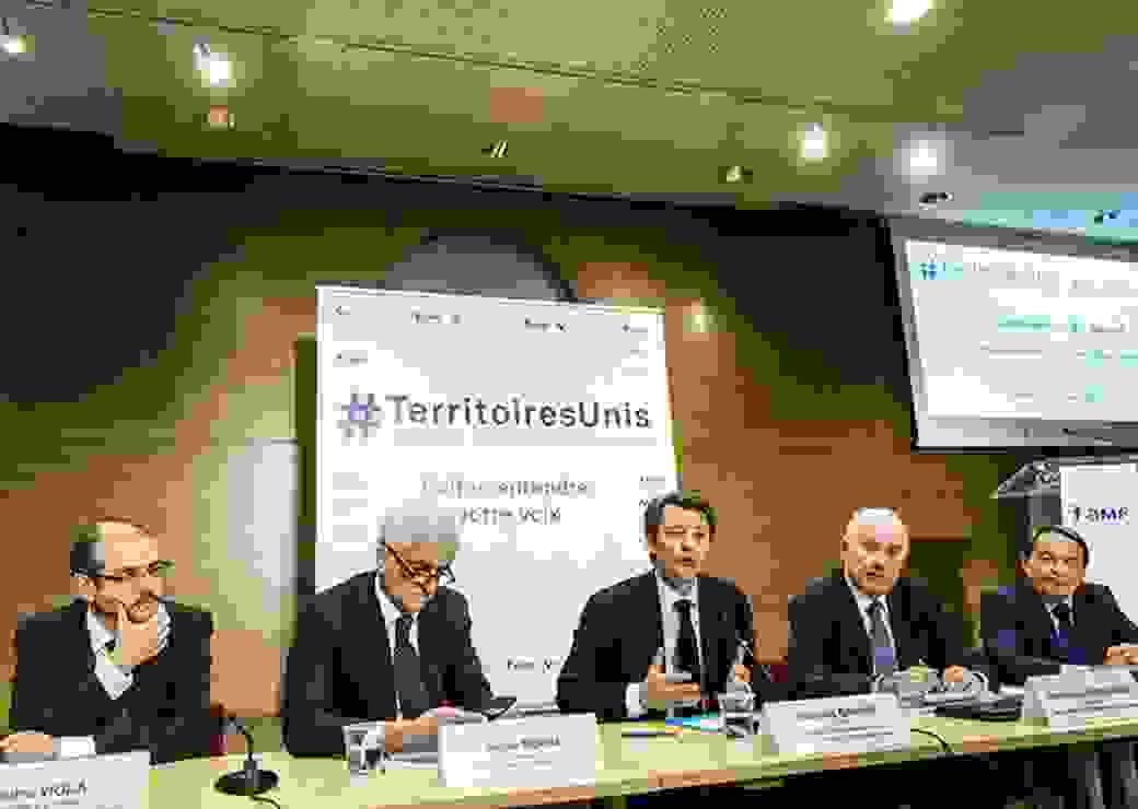 Conference de presse de la presentation de la contribution de Territoires Unis
