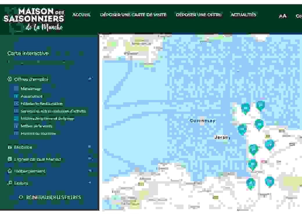 Carte emploi Maison des saisonniers
