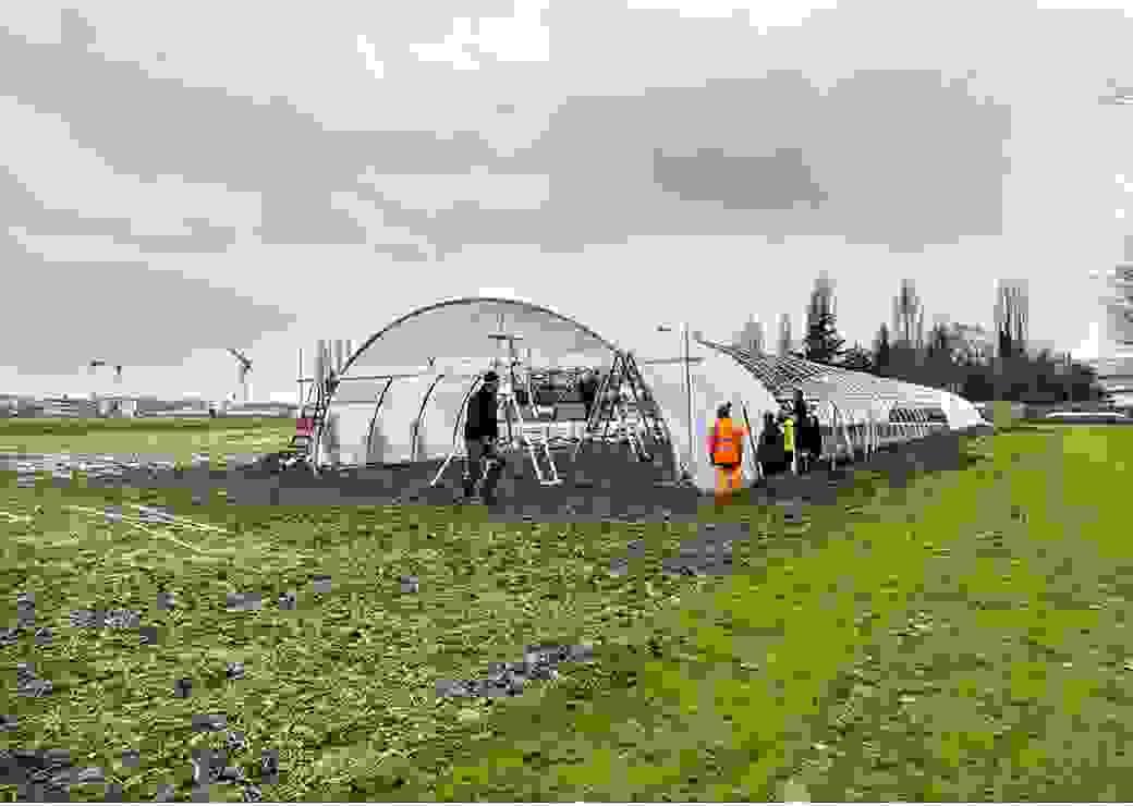 3.500 m² de terres ont été mis en culture maraichère