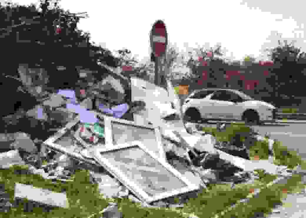déchets sauvages, bâtiment