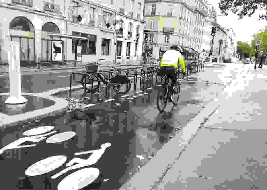 cyclistes, piste cyclable