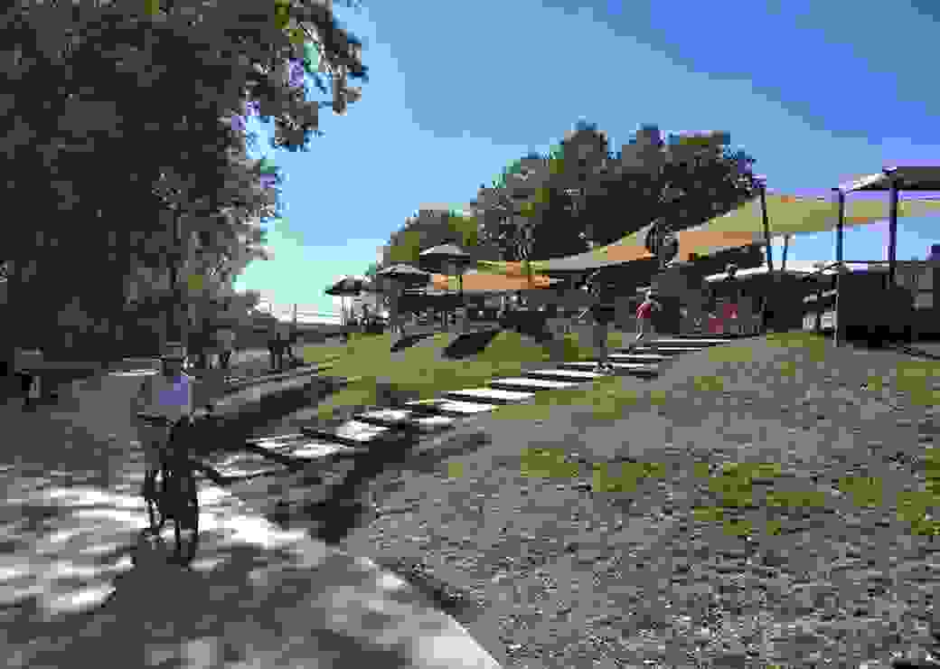 Nouveaux espaces publics au bord de la rivière…
