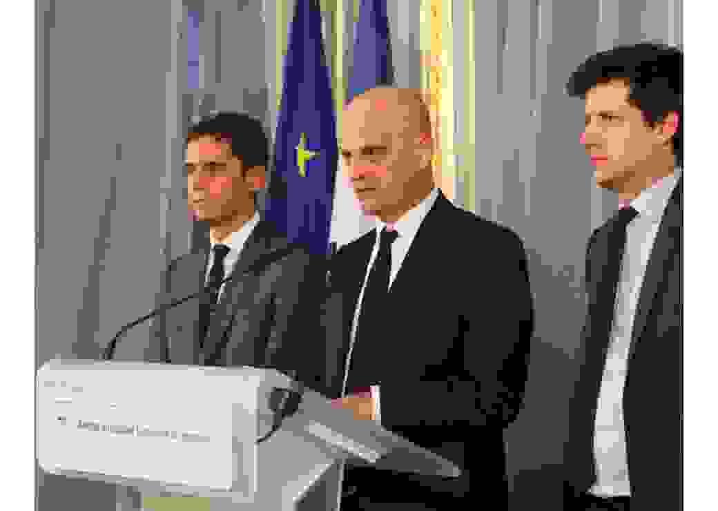 Au cours de la remise du rapport Territoires et réussite de Pierre Mathiot et Ariane Azema le 6 novembre