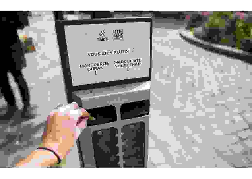 Cendriers-sondage rue de ponthieu (8ème)