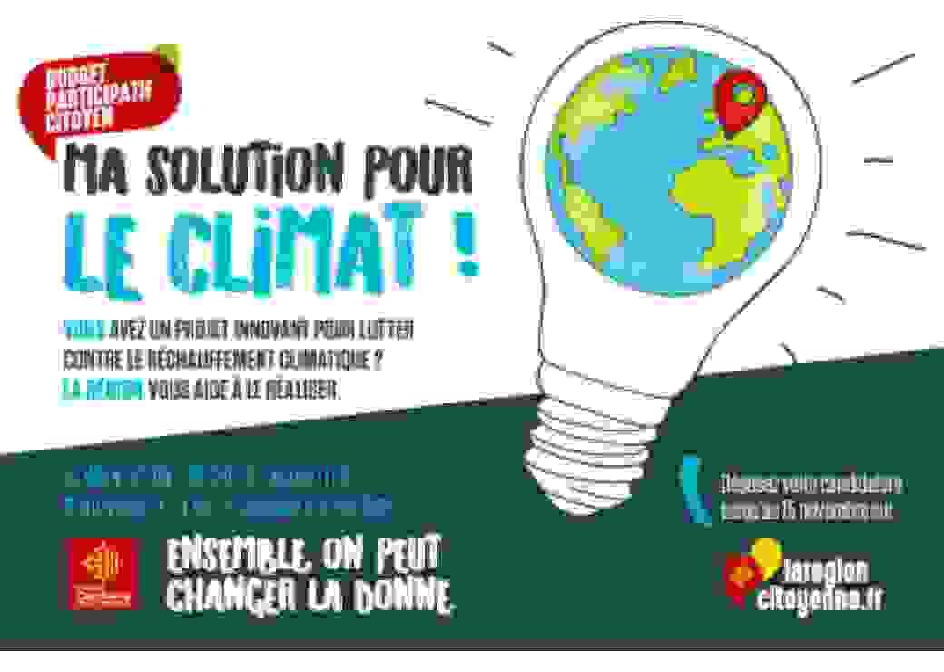 """Budget participatif citoyen de la Région Occitanie """"Ma solution pour le climat"""""""