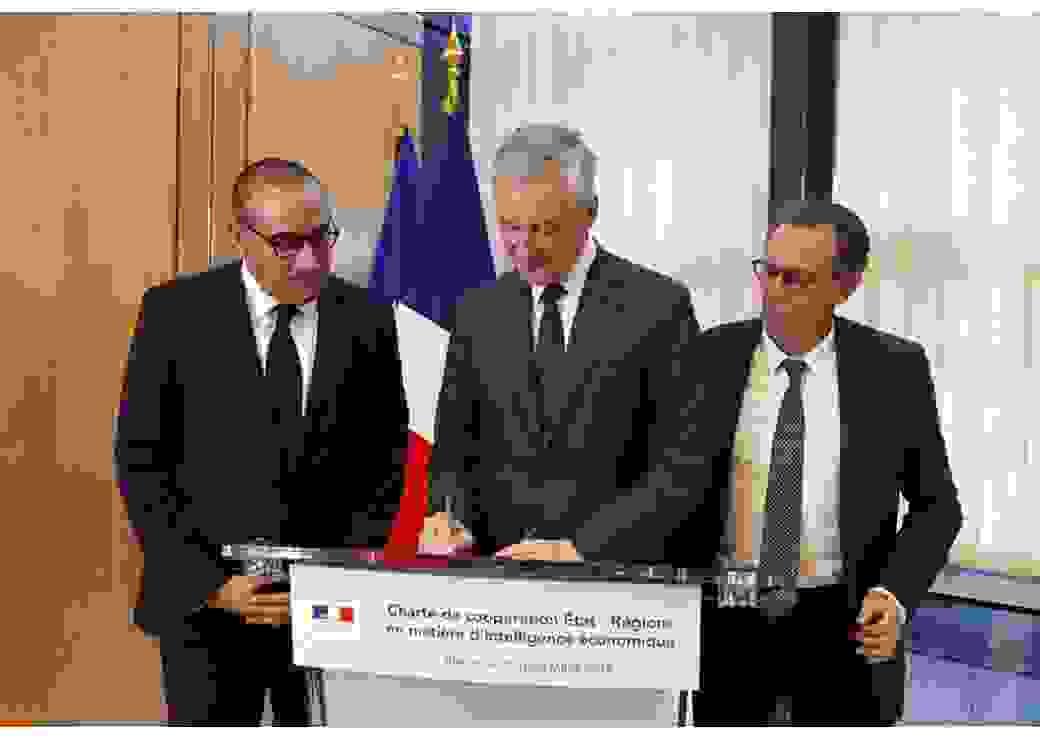 Laurent Nunez, Bruno Le Maire et Renaud Muselier.