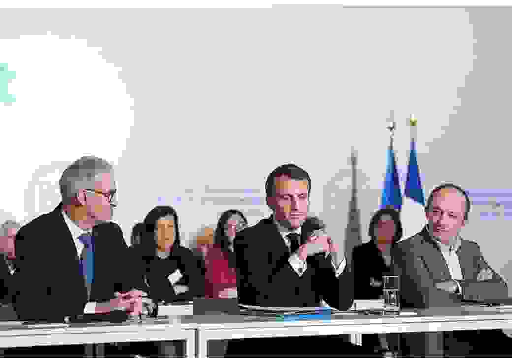 Emmanuel Macron et Patrick Bernasconi