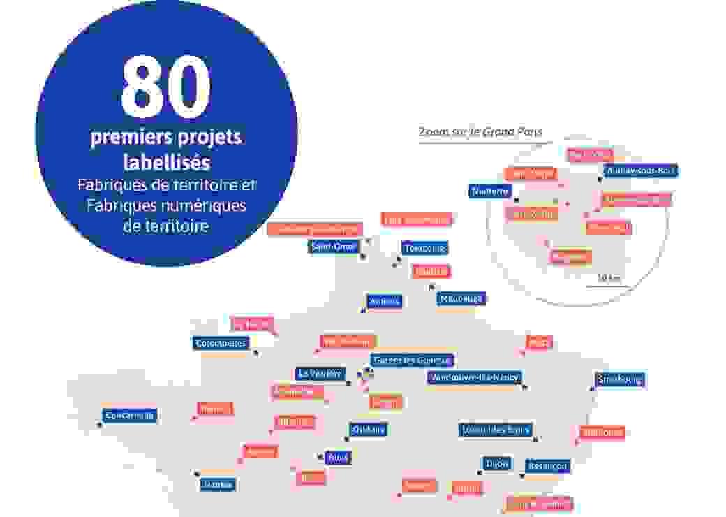 Annonce des 80 premières labellisations des fabriques de territoires et fabriques numériques de territoires