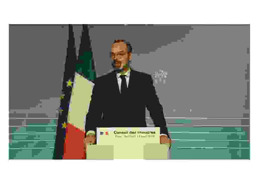 Edouard Philippe à la sortie du Conseil des Ministres le 18 mars 2020