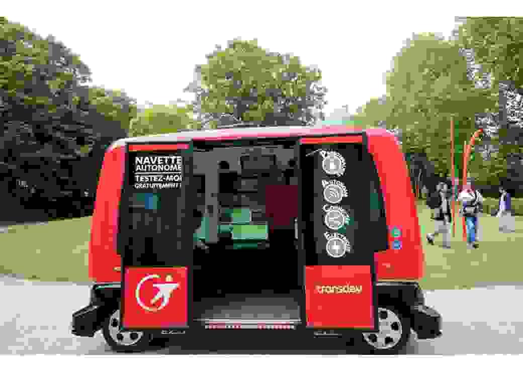 vehicule aitonome Transdev