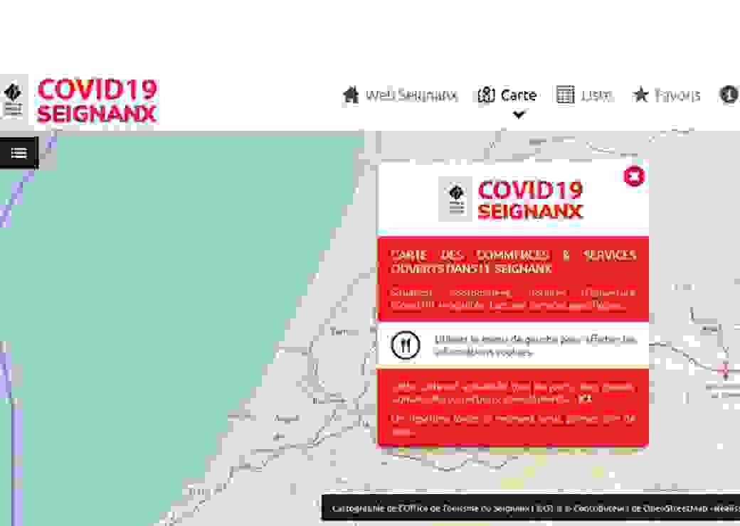 Cartographie en appui Covid-19