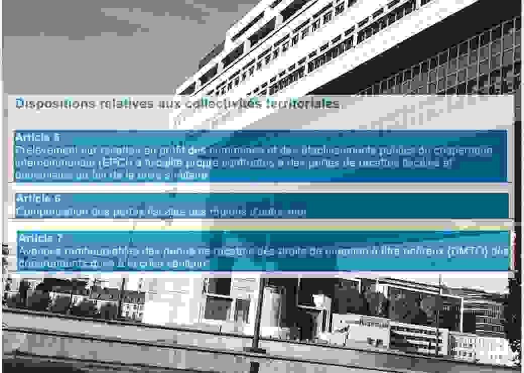 PLFR3 / finances locales