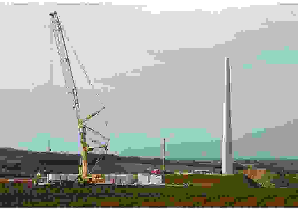 Chantier d'éoliennes