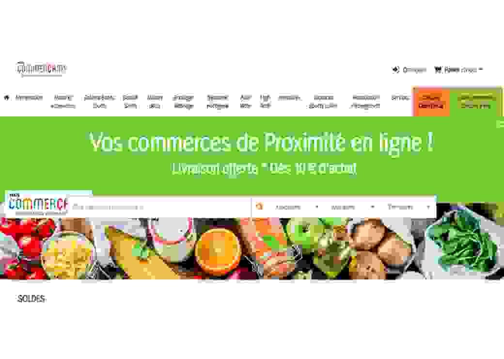 Capture d'écran du site de commerce en ligne du Grand Hainaut