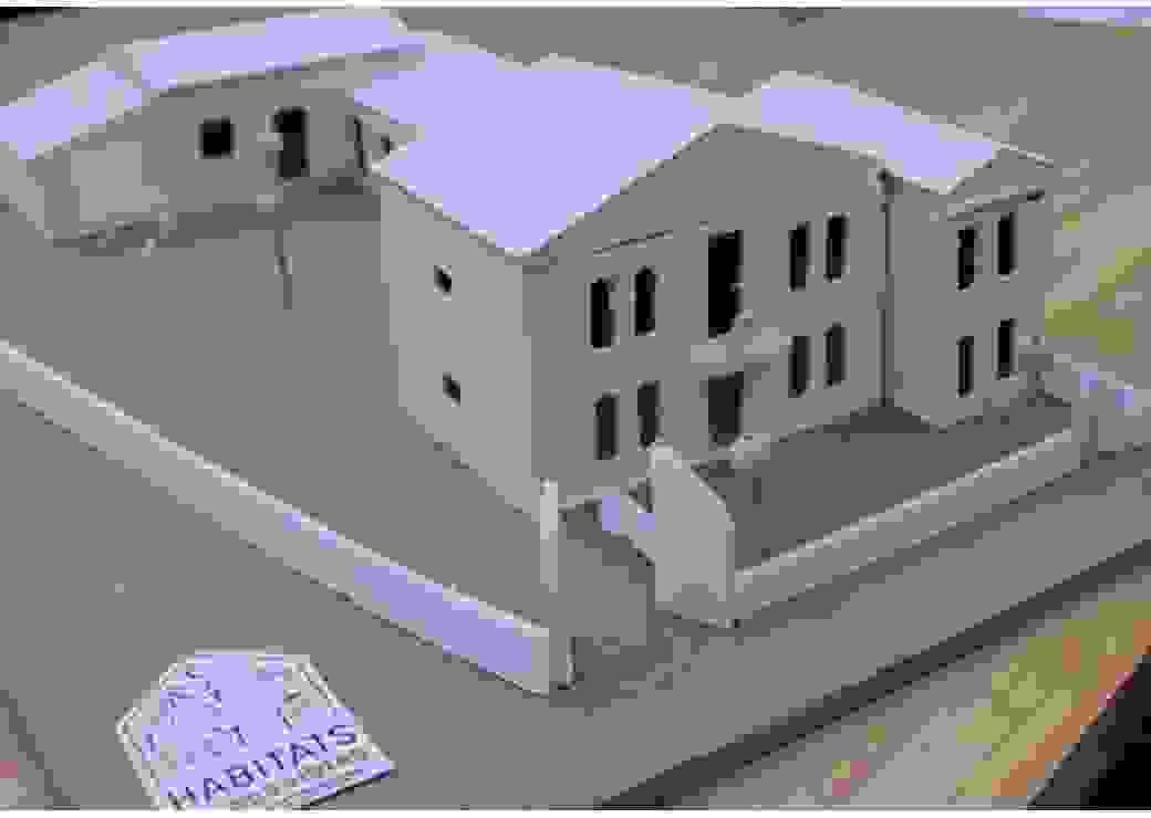 Maquette représentant la maison partagée, après travaux