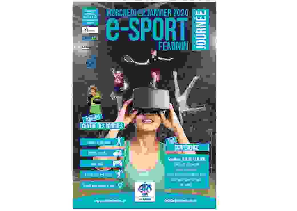 Affiche annonçant la journée du e-sport féminin à Aix-les-Bains