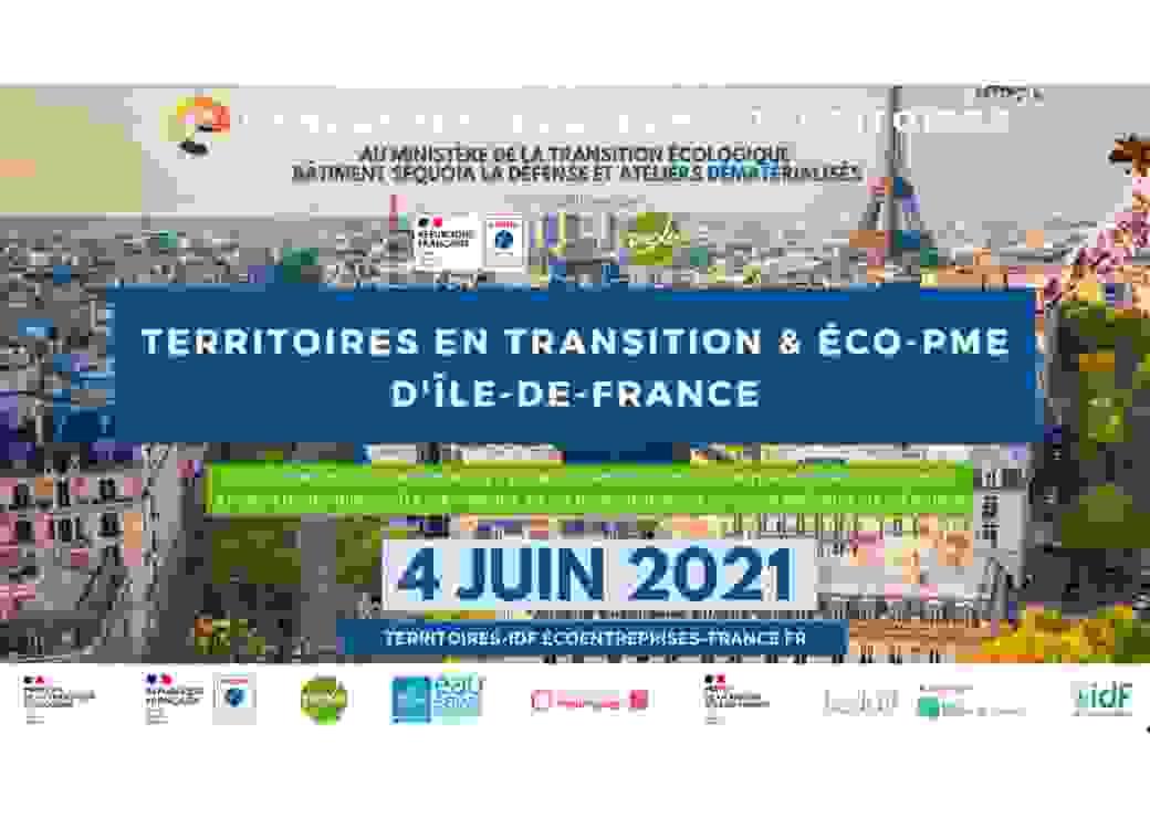 Affiche Rencontre Ecotech territoires en transition & eco-entreprises franciliennes