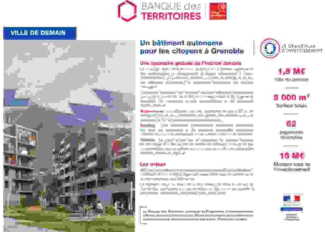 Bâtiment autonome à Grenoble