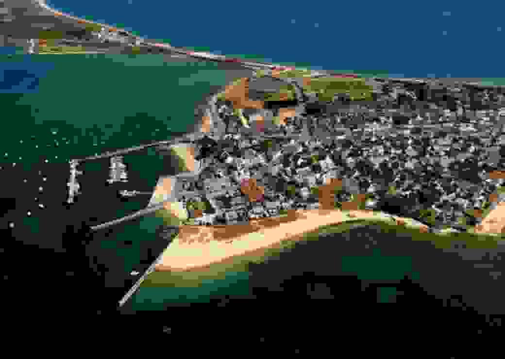 Vue aérienne presqu'île de Gâvres