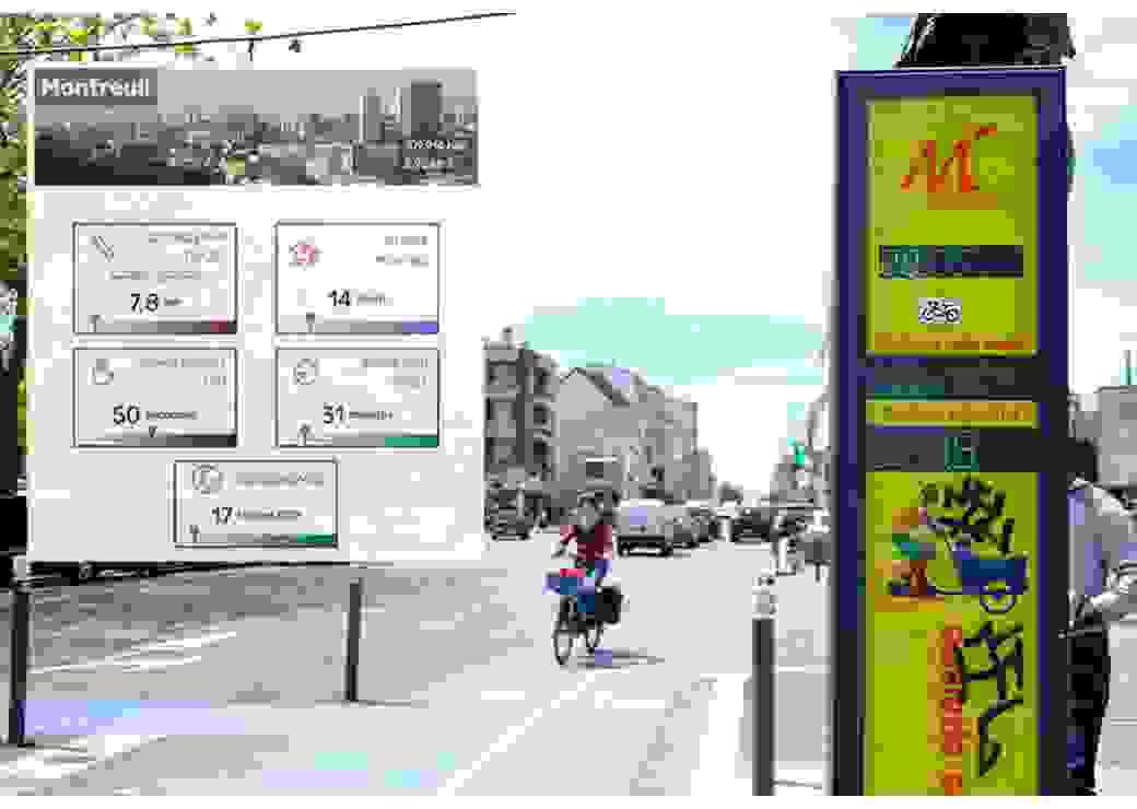 baromètre de la pratique cyclable, compteur de vélos Montreuil