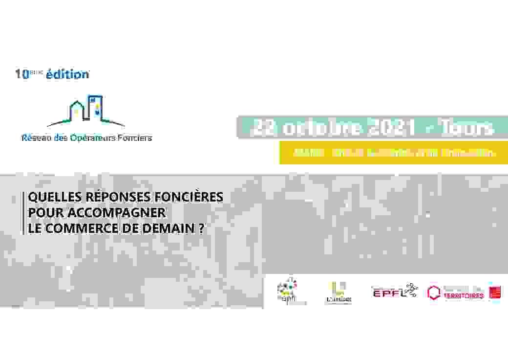 Save the date colloque national du Réseau des Opérateurs Fonciers