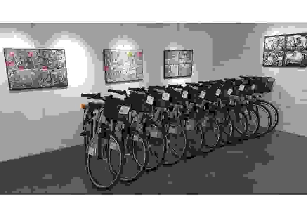 Exposition de vélos électriques