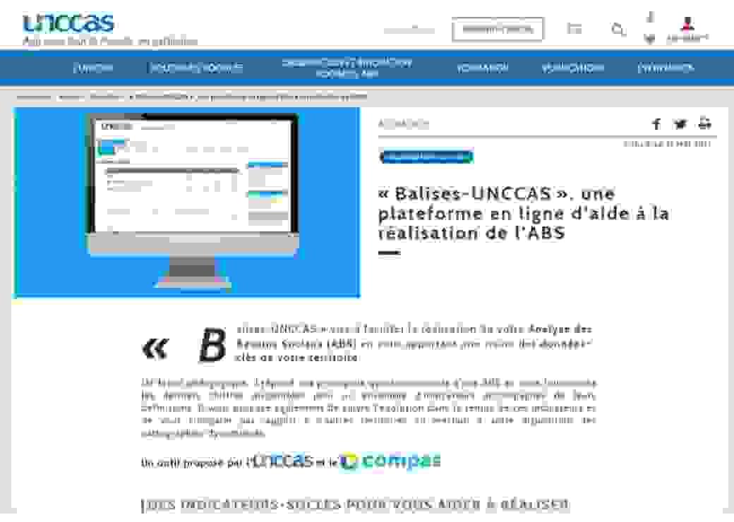 """""""Balises-uncass"""" sur la plateforme en ligne"""