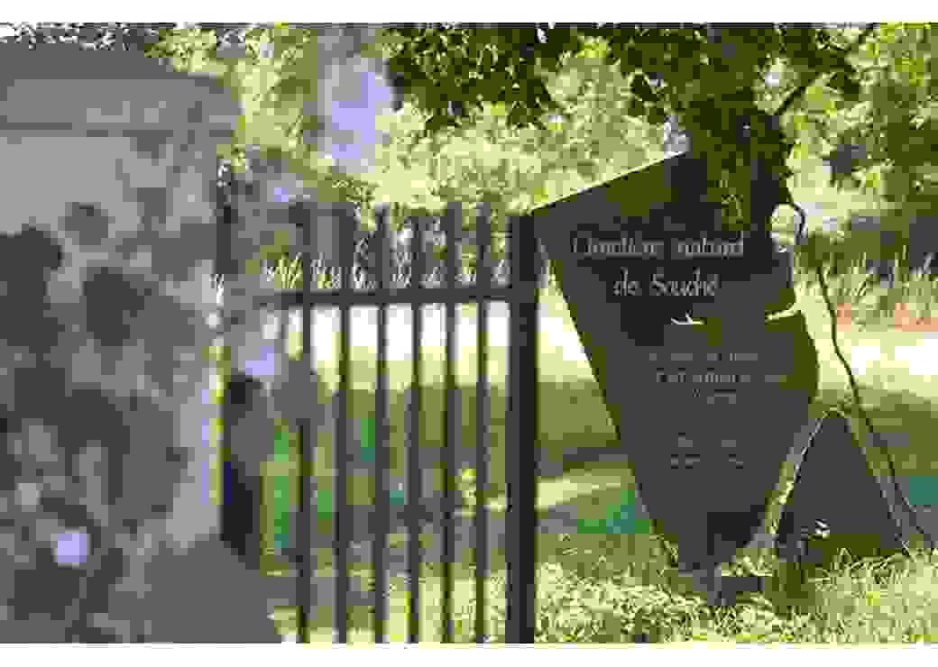 Entrée du cimetière naturel de Souché
