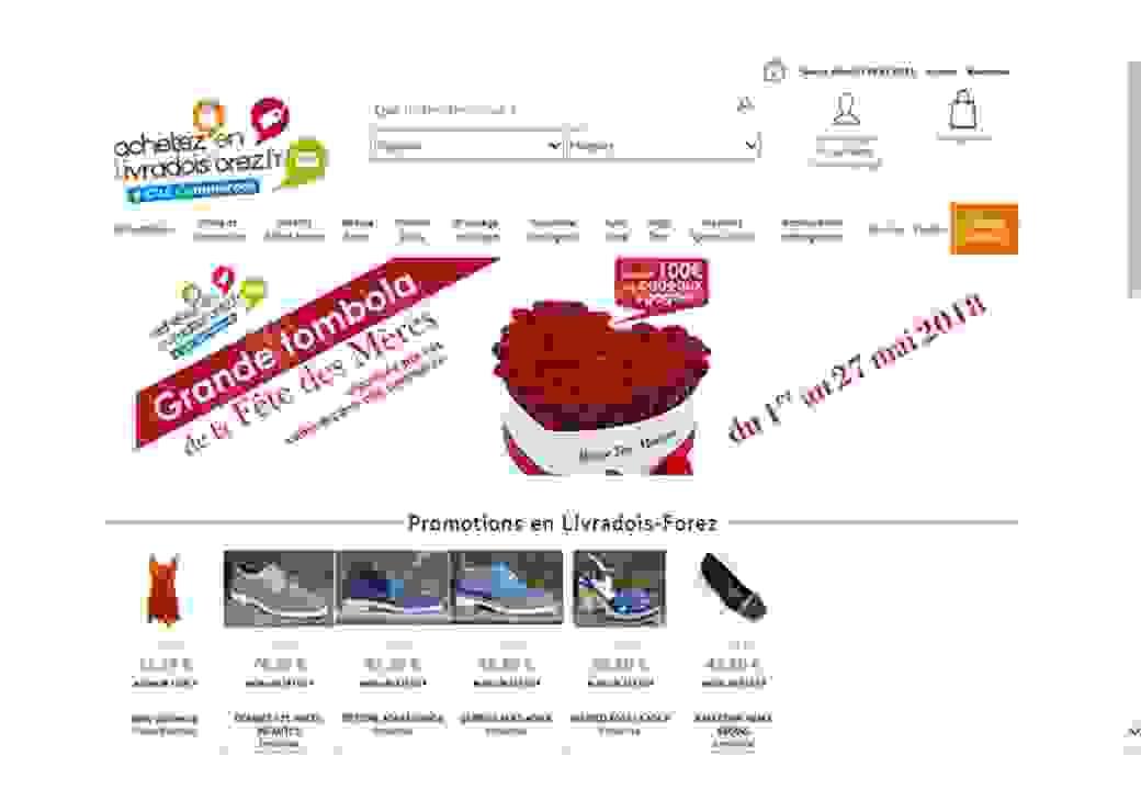 Page d'accueil du site Achetez en Livradois Forez