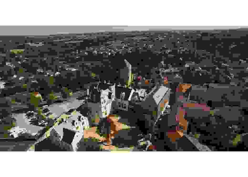 Vue aérienne de l'hôtel Tyndo