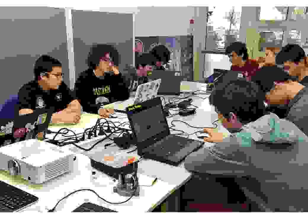 Les lycéens en action