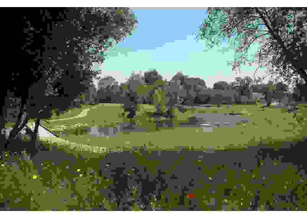 Ancien quartier de l'étang métamorphosé par le réaménagement