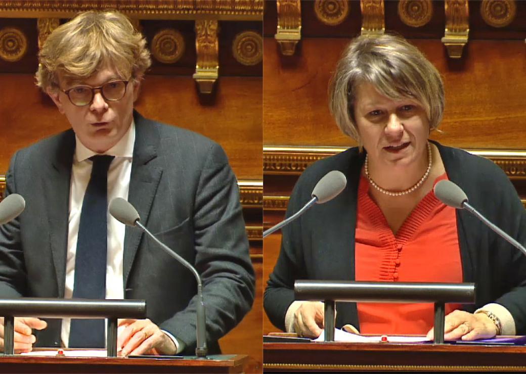 Marc Fesneau et Maryse Carrère