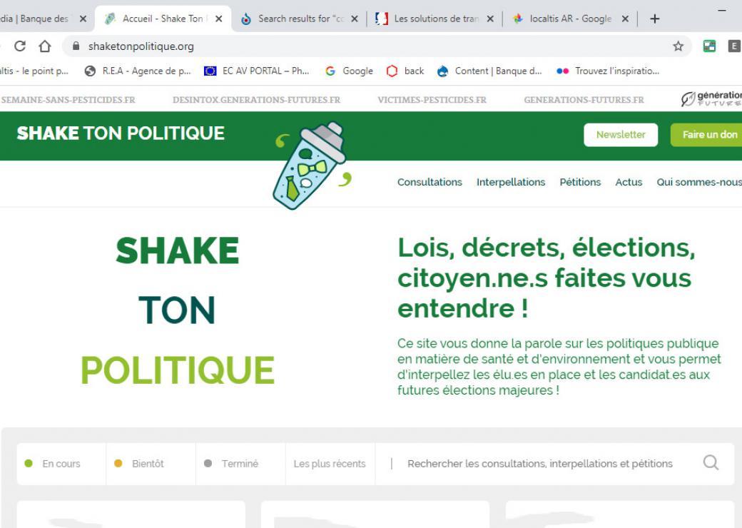 Site de Shake ton politique