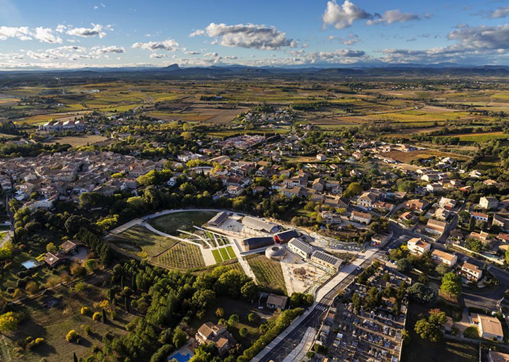 Vue aerienne Village - Languedoc-Roussillon