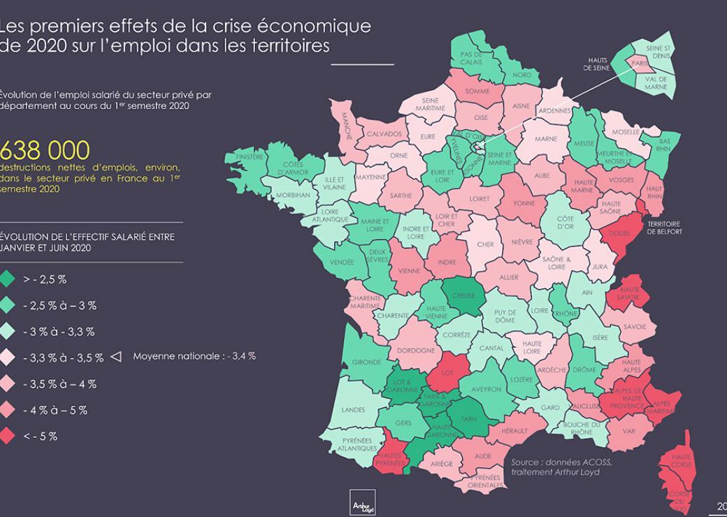 Emploi : la crise amplifie les inégalités territoriales