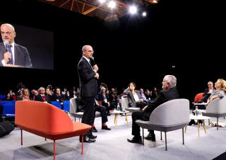 J.M Blanquer au forum éducation à l'AMF